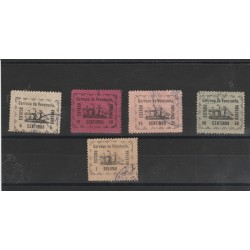 1903 VENEZUELA STEMMI STATO DI GUAYANA 5 VAL USATI MF53129