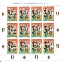 1999 ITALIA MILAN CAMPIONE 1998 - 1999 MINIFOGLIO MNH MF27075