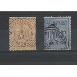 1903 REGNO SERIE SEGNATASSE 2 VALORI USATI MF52680