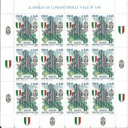 2005 ITALIA JUVENTUS CAMPIONE 2004 - 2005 MINIFOGLIO MNH MF27076