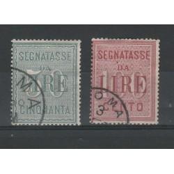 1884 REGNO SERIE SEGNATASSE 2 VALORI USATI MF52679