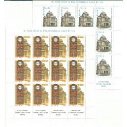 2004 ITALIA CENTENARIO TEMPIO MAGGIORE ROMA - 2 MINIFOGLI MNH MF27073