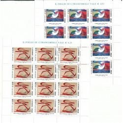 2003 ITALIA IL FUTURISMO GIACOMO BALLA - 2 MINIFOGLI MNH MF27106