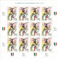 2003 ITALIA JUVENTUS CAMPIONE 2002 - 2003 MINIFOGLIO MNH MF27098