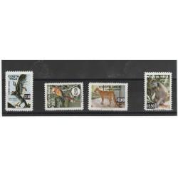 COSTA RICA  1981 ANIMALI IN ESTINZIONE  4 VAL MNH MF53254