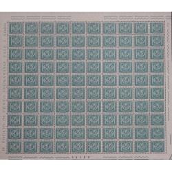 1991 ITALIA SEGNATASSE LIRE 50 FOGLIO COMPLETO DI 100 VALORI MNH MF27086