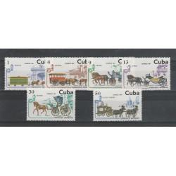 CUBA 1981 VETTURE IPPICHE   6 VAL  MNH  MF53283
