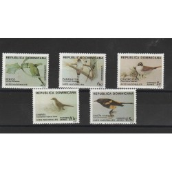 DOMINICA 1979 DEFINITIVA UCCELLI BIRDS 5 VAL MNH MF53330