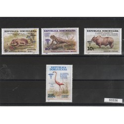 DOMINICA 1977 VETERINARI  4 VAL MNH MF53336