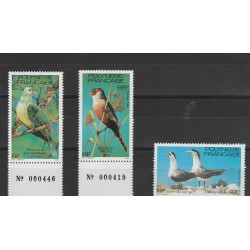1981 POLINESIA FRANCESE UCCELLI  3 VAL MNH MF53323