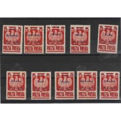 1945 POLONIA POLSKA LIBERAZIONE CITTA' POLACCHE 10V MNH MF53381