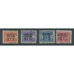 1947 TRIESTE A SEGNATASSE SERIE 4 VALORI NUOVI MLH MF51781