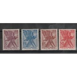 1930 POLONIA POLSKA  100° INSURREZIONE 4 VAL  MNH MF 53374