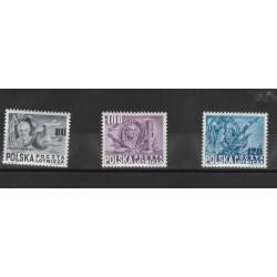 1948 POLONIA POLSKA  160à USA  3 V MNH MF 53368