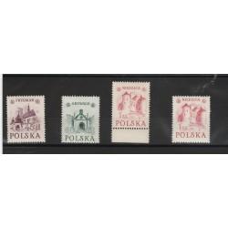 1952 POLONIA POLSKA  MONUMENTI STORICI  4 VAL NUOVI  MNH MF 53343