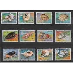 COOK ISLANDS AITUTAKI 1974  CONCHIGLIE  12 VAL  YV N 95/106 MNH MF53418
