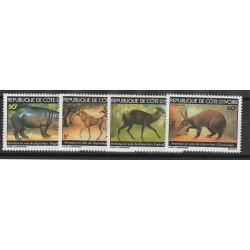 COTE D IVOIRE 1979 ANIMALI IN ESTINZIONE 4  VAL MNH MF53392