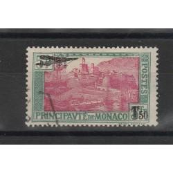 1933 MONACO  AEREO IN SOPRASTAMPA UNIF PA N° 1   -  1 VAL USATO MF53482