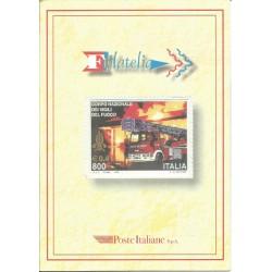 1999 ITALIA REPUBBLICA FOLDER VIGILI DEL FUOCO MF27129
