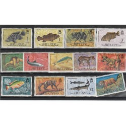BELIZE 19734 DEFINITIVA FAUNA  13 VAL MNH MF53484