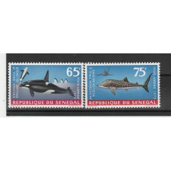 SENEGAL 19703  PESCI 2 VAL MNH MF53466