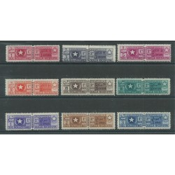 1950 SOMALIA AFIS PACCHI POSTALI  9 VALORI MLH MF27144