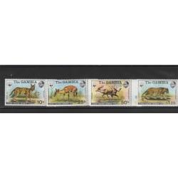 GAMBIA 1976 SERIE RISERVA DI ABUKO WWF 4 V NUOVI MNH MF53459