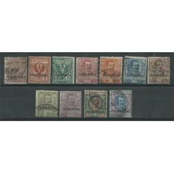 1903 ERITREA SERIE FLOREALE  SOPRASTAMPATA 11 V USATI MF27142