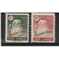 1954 CUBA NATALE 2 VAL MNH  MF53503