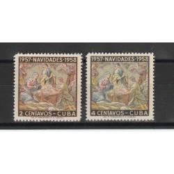 1957 CUBA NATALE 2 VAL MNH  MF53447