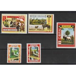 CENTRAFICAINE CENTRAFICANA 1970  BOKASSA   FAUNA 5 VAL MNH MF53595