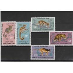 CENTRAFICAINE CENTRAFICANA 1971 SCIMMIE FAUNA 5  VAL MNH MF53594