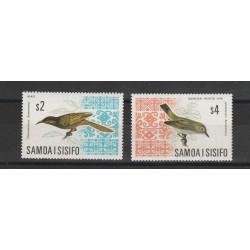 SAMOA E SISIFO 1967/69  FAUNA  UCCELLI   2 V MNH MF 53607