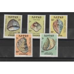 1977  ETIOPIA  CONCHIGLIE 5 VAL MNH  MF53634