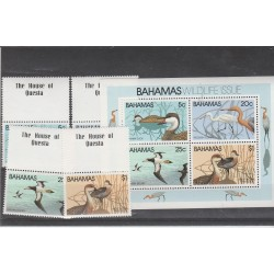 BAHAMAS 1981 UCCELLI  4 VAL + BF  MNH  MF53647