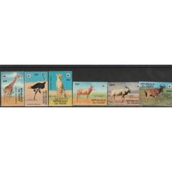 NIGER 1978 WWF ANIMALI IN ESTINZIONE 6 VALORI MNH MF53645