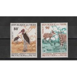NIGER 1977  PROTEZIONE FAUNA  2 VAL MNH MF53653