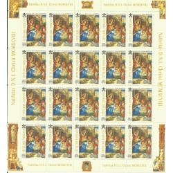1998 VATICANO NATALE '98 1 FOGLIO DI 20 VAL. NUOVI MNH MF27175
