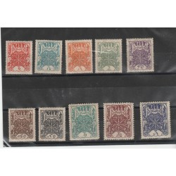 1926  TUVA  RUSSIA RUOTA DELL   ETERNITA 10  VALORI MNH  MF53706