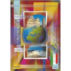 2002 ITALIA REPUBBLICA FOLDER UNESCO PATRIMONIO MONDIALE MF27266