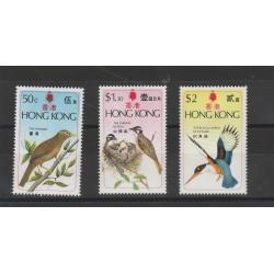 HONG KONG 1975 FAUNA UCCELLI 3 VAL MNH MF53796