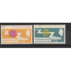 HONG KONG 1965 CENTENARIO UIT U.I.T.  2 VALORI YV 212-213 MNH MF53797