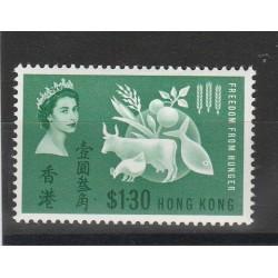 HONG KONG 1963 CAMPAGNA MONDIALE LOTTA ALLA FAME 1 VAL MNH YV n 209 MF53803