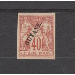 GUYANA FRANCESE GUYANE 1892 ALLEGORIA ND 1 MLH YV 13 MF53794