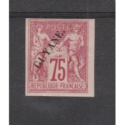 GUYANA FRANCESE GUYANE 1892 ALLEGORIA ND 1 MLH YV 14 MF53790