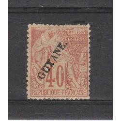 GUYANA FRANCESE GUYANE 1892 ALLEGORIA DENT 1 MLH YV 26 MF53779