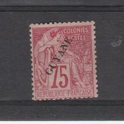 GUYANA FRANCESE GUYANE 1892 ALLEGORIA DENT 1 MLH YV 27 MF53780