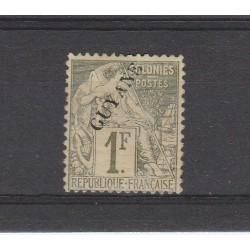 GUYANA FRANCESE GUYANE 1892 ALLEGORIA DENT 1 MLH YV 28 MF53786