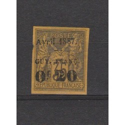 GUYANA FRANCESE GUYANE 1887 ALLEGORIA SOPRAST 1 MLH YV 4 MF53783