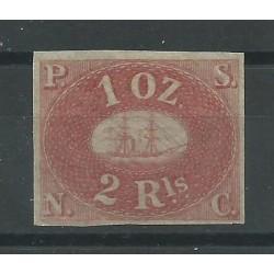 1857 PERU' COMPAGNIA DI NAVIGAZIONE A VAPORE DEL PACIFICO MH CERT. DIENA MF27293